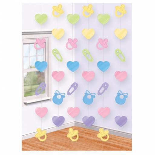 6 Baby Shower String Decoration