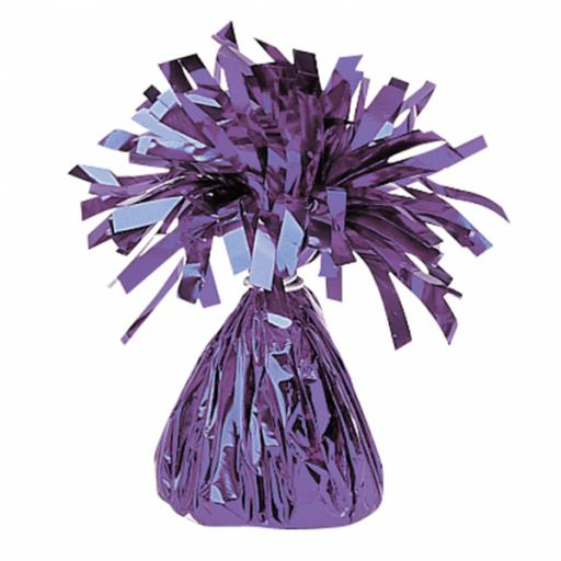 Purple Foil Balloon Weights 170g