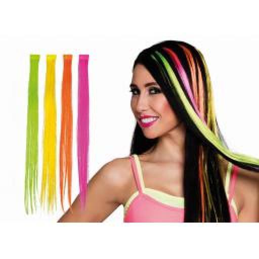 1 Strip Hair Extension Neon Pink Colour