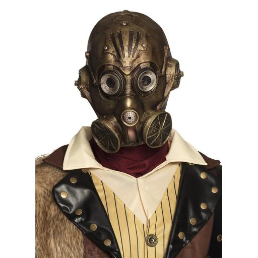 Victorian Steampunk Gas Mask Mens Latex Fancy Dress Halloween Costume Mask