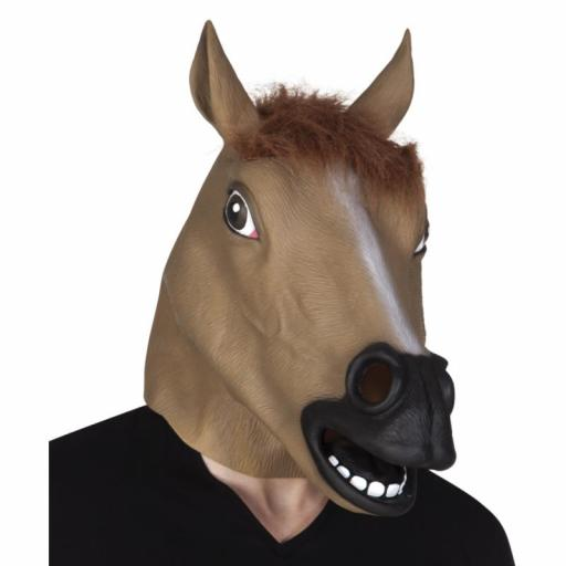 Latex Head Mask Horse- Fancy Dress Party Cosplay Halloween Adult Costume