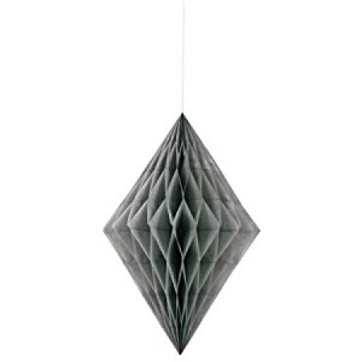 Honeycomb Hanging Decoration - Grey