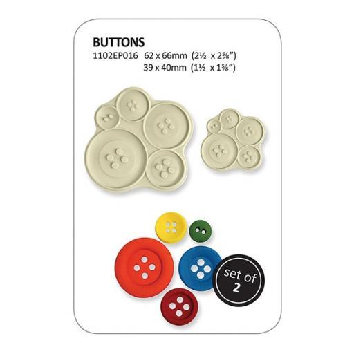JEM Pop It Mould - Buttons - 2 Piece