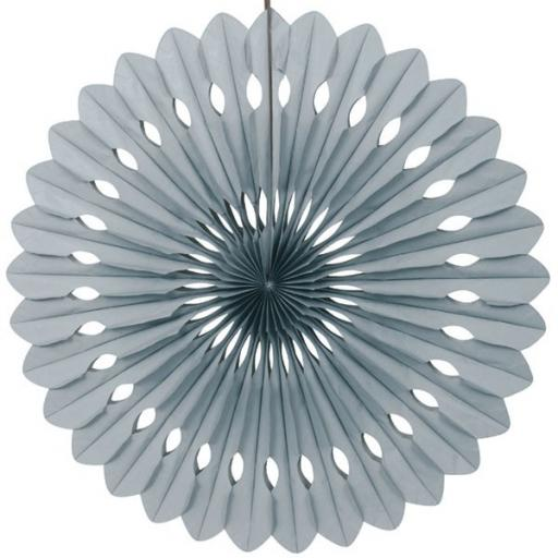 Decorative Paper Fan Grey 16inch