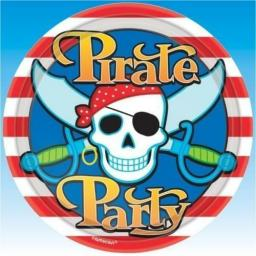 Party Pirate Party Plates 8pk Amscan
