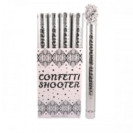 Confetti Shooter 50cm Silver Foil