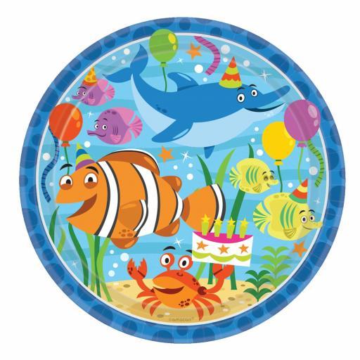 Ocean Buddies Paper Plates 8pk