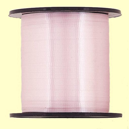 Unique 500 yds Pastel Pink Curling Ribbon Mettalic