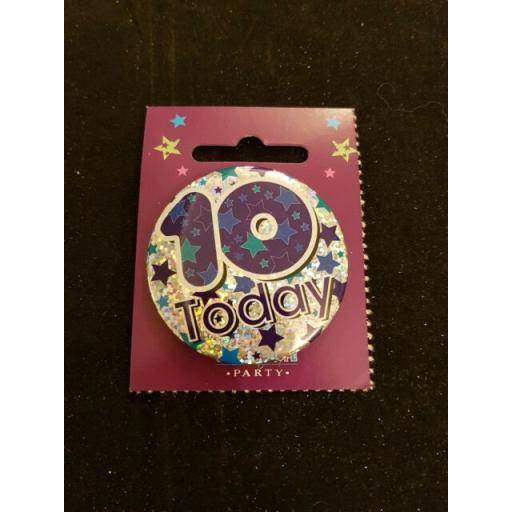 Kaleidoscope Party Badge 10th Birthday
