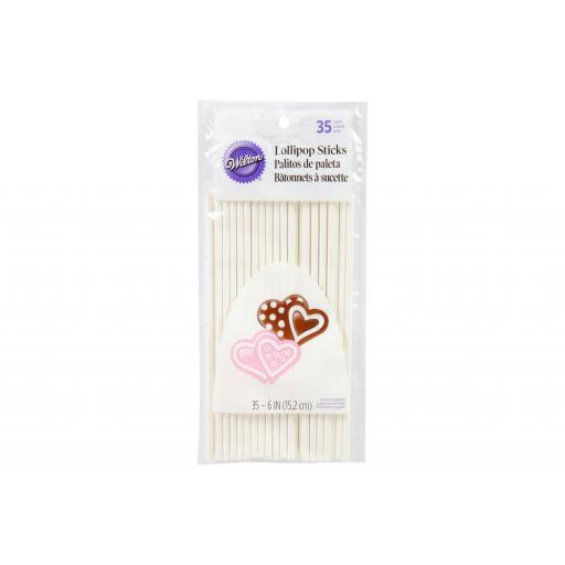 "Wilton 6"" Lollipop Sticks 35/pck"