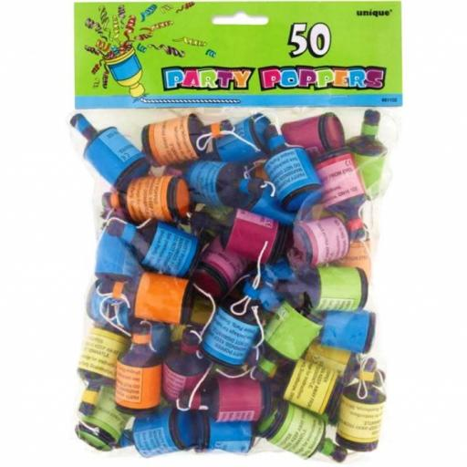 Party Poppers 50pk