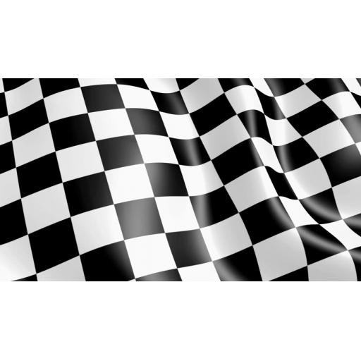 Checkered Flag Black+White 5'x 3'