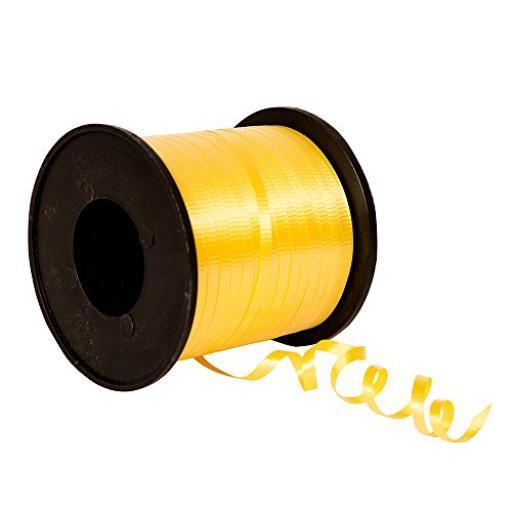 Curling Yellow Ribbon