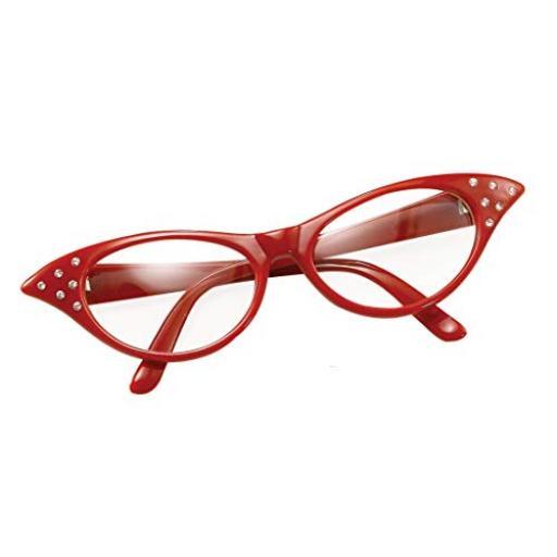 1950s Red Flyaway Style Rock & Roll Sunglasses