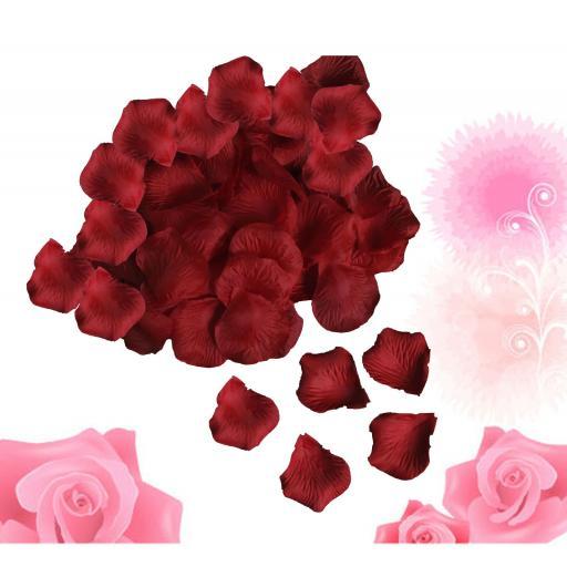 1000 Silk Rose Petals