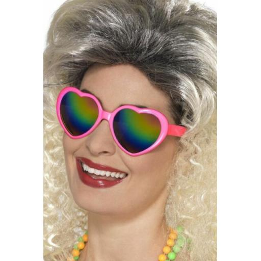 NEW Pink Heart Specs - Pink Pride Party Fancy Dress Accessory