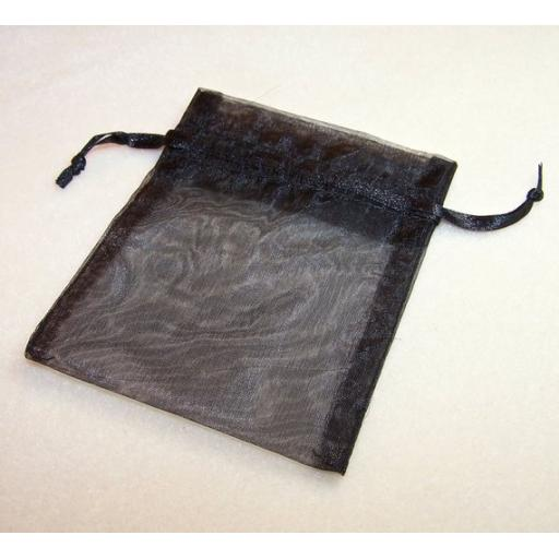 10 Black Small Organza Pouch