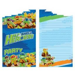 Turtles Half Shell Heroes Invitation Card