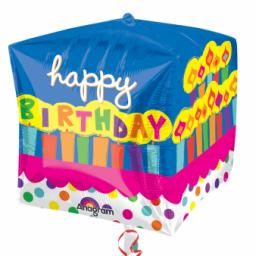 Cubez Happy Birthday Cake Foil Balloon
