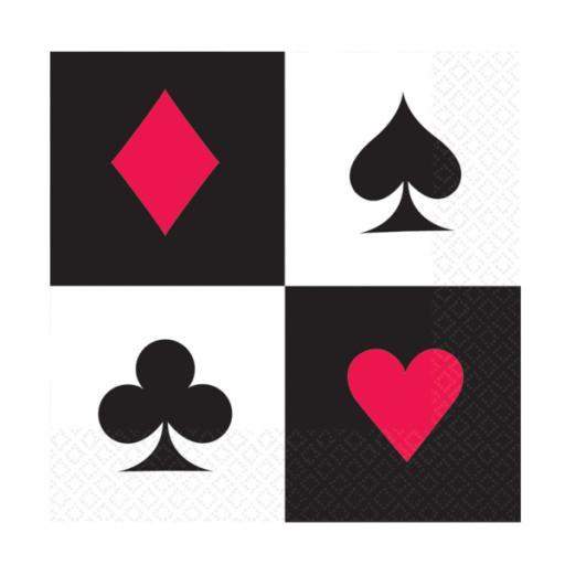 Casino Luncheon Napkins 16pk