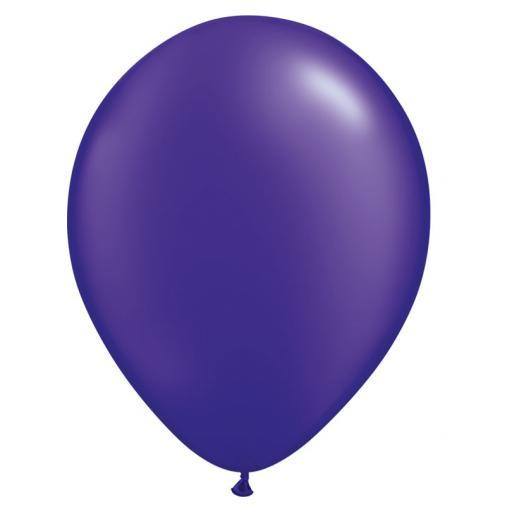 5 inch quartz purple metallic latex balloon 100pk