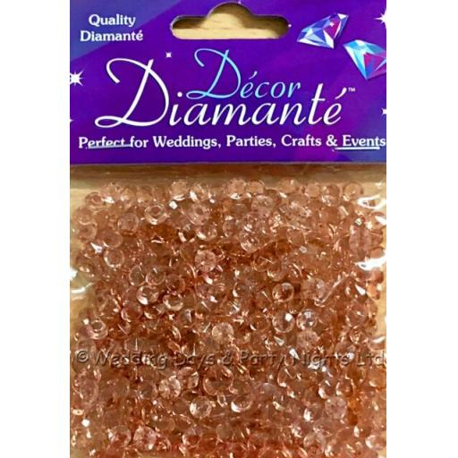 Rose Gold 6mm Diamante Crystals Wedding Birthday Party Table Confetti Decorations