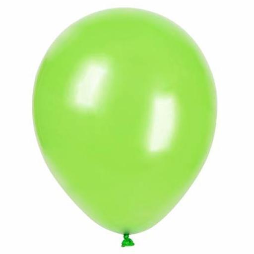 5 inch Apple Green Metallic Latex Balloons 100pk