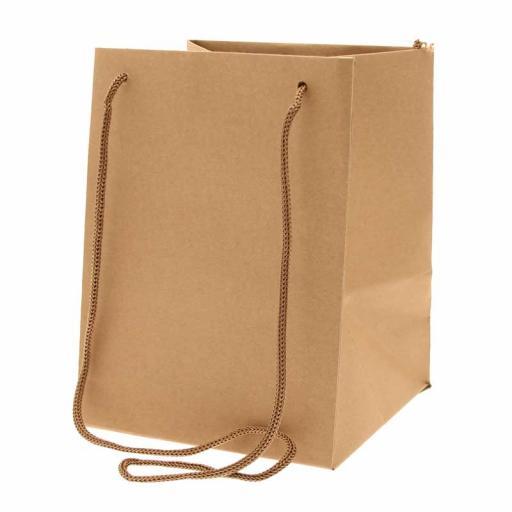 Kraft Hand Tie Bag (19x25cm)