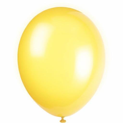 5 inch Citrus Yellow Metallic Latex Balloons 100pk.jpg