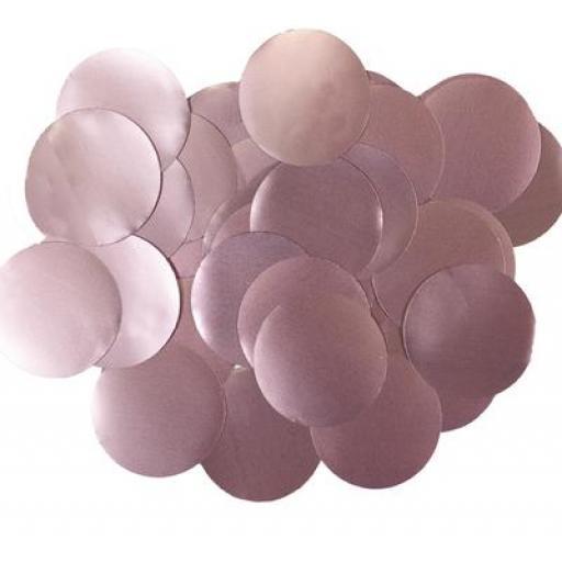 Oaktree Metallic Pearl Foil Confetti 25mm x 14g Lt. Pink