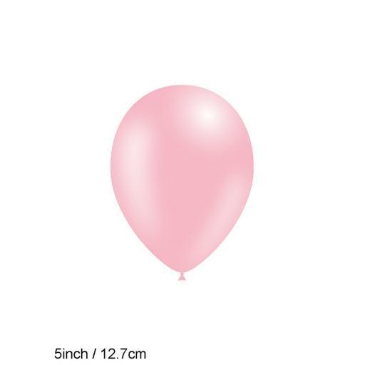 5 inch Light Pink Metallic Latex Balloons 100pk