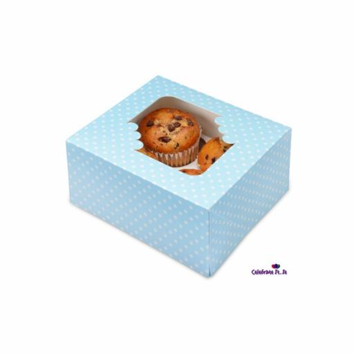 Blue Spot 4/ Muffin Cupcake Box x 2