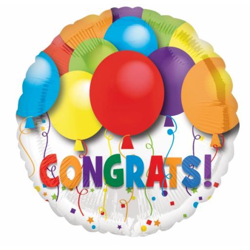 Bold Congratulations Foil Balloon - Standard