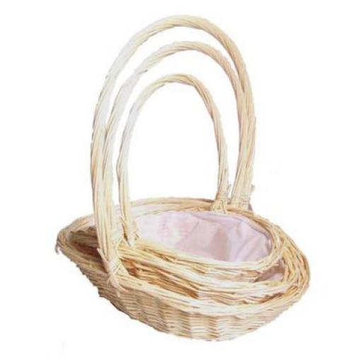 Set of 3 Peeled Country Basket