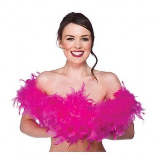 Ladies Feather Boa Pink