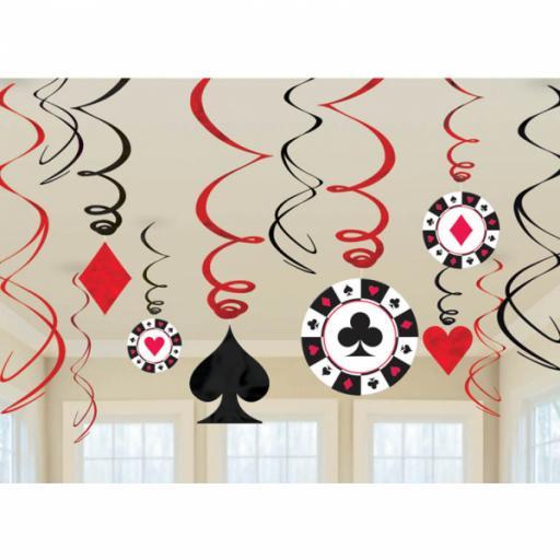 Casino Swirl Decorations