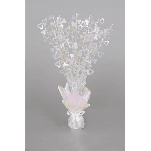 Iridescent Heart Centrepiece Table Decoration