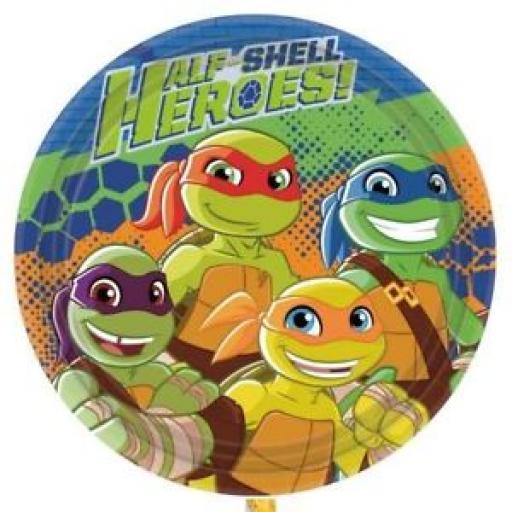 Turtles Half Shell Heroes 23cm Round Paper Plates