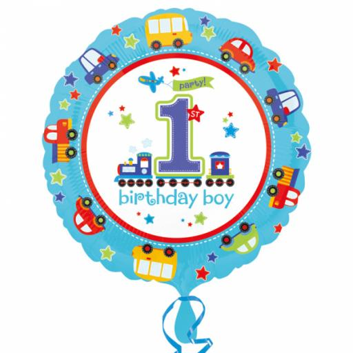 All Aboard Birthday Standard Foil Balloons 1st Birthday Boy