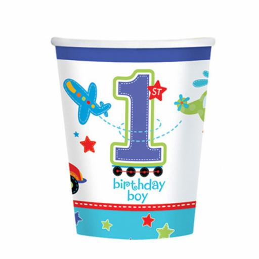 All Aboard Birthday Paper Cups 266ml - 8