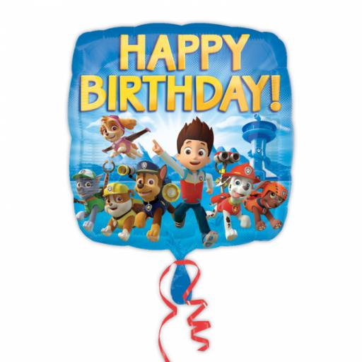 Paw Patrol Happy Birthday Standard Foil Balloons