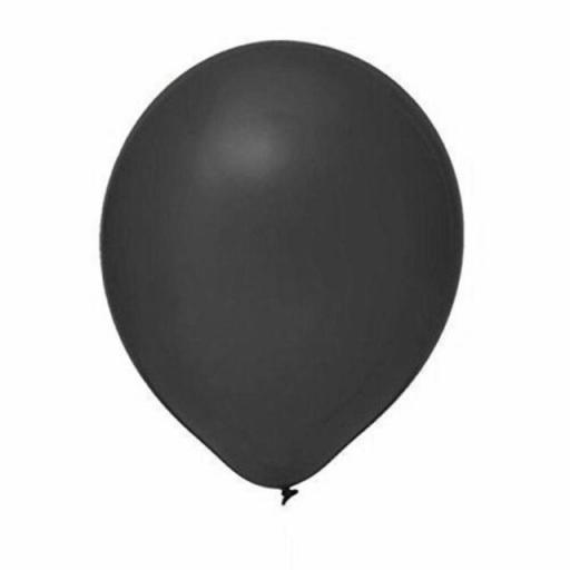 """Pack of 50 - 12"""" Metallic Black Latex Balloons for Birthday, Party, Decoration"""