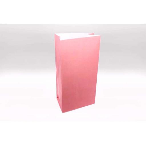 12 Paper Party Bags - Baby Pink