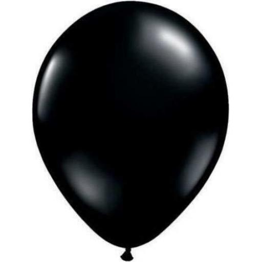 5 inch Black Metallic Latex Balloons 100pk