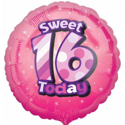 Happy Sweet 16th Birthday Circle Foil Balloon HS40
