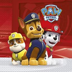 Paw Patrol Party Paper Lunch Napkins (20 Pack)