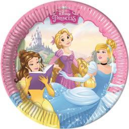 20cm Princess Dreaming Paper Plate Medium 8 pieces