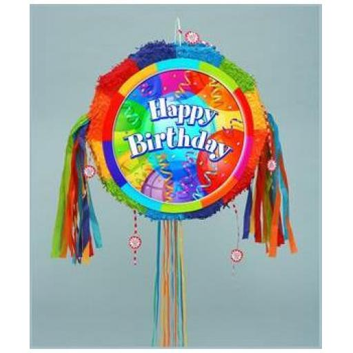 Brilliant Birthday Pull-String Pinata