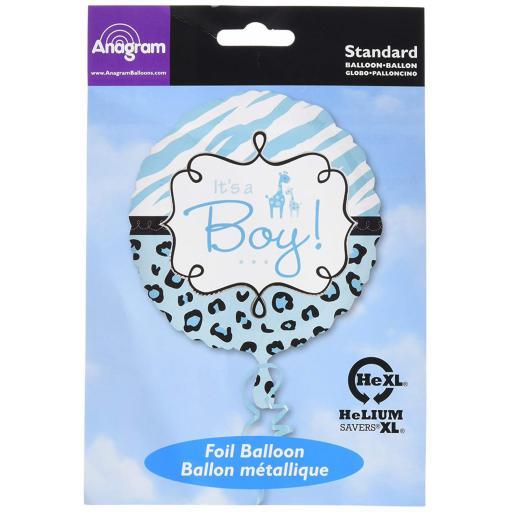 """Safari It's A Boy 18"""" Foil Balloon"""