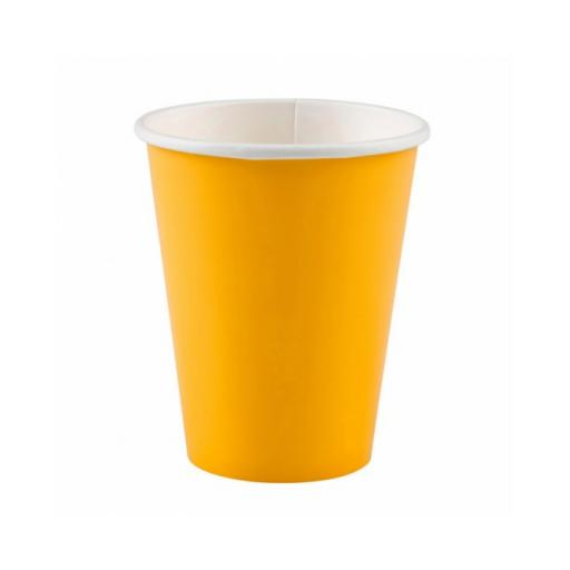Yellow Sunshine Paper Cups 9oz 8pk